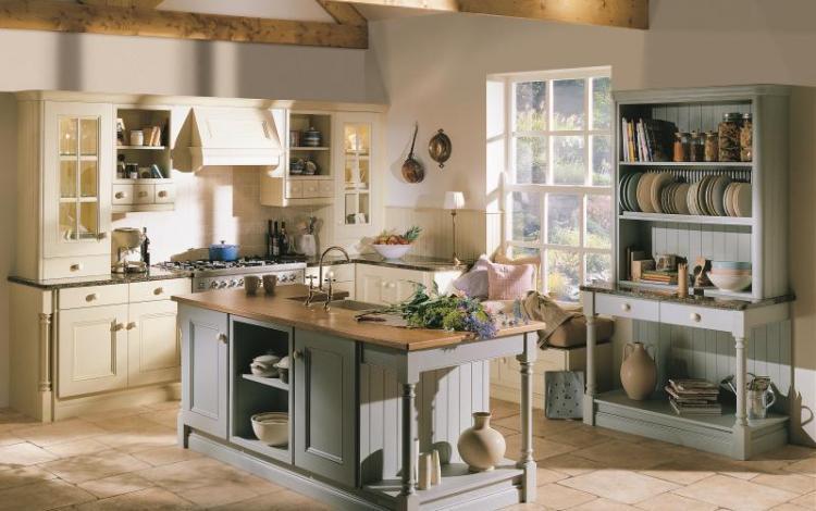 Painted Timber Kitchen Range  Avonlea Oak Painted
