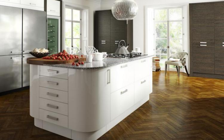 Gloss Kitchen Range  Astro White Image