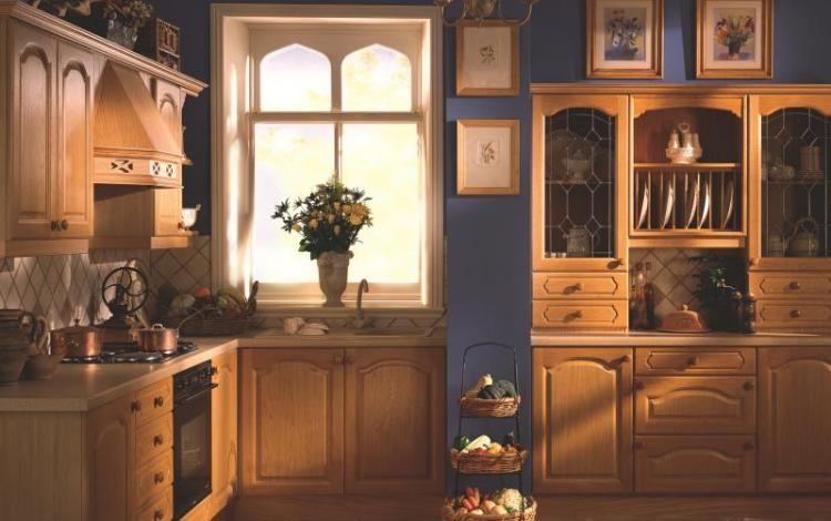 Painted Timber Kitchen Range  Brecon Light Oak