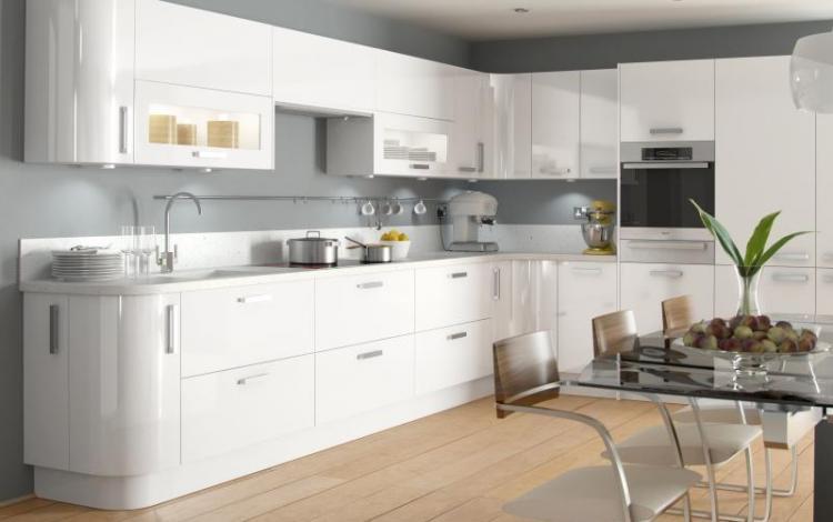 Gloss Kitchen Range  Haddington White High Gloss