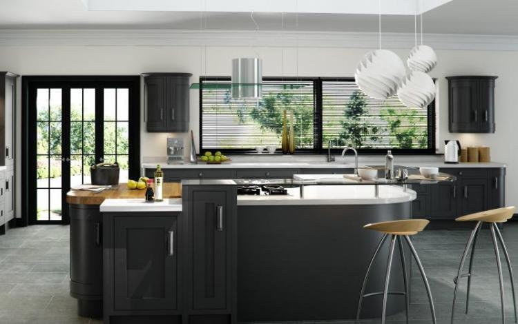 In-Frame Kitchen Range  Iona Oak Inframe Graphite
