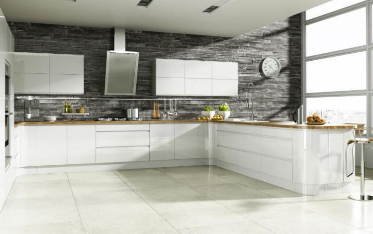Gloss Kitchen Range  Welford Bright White