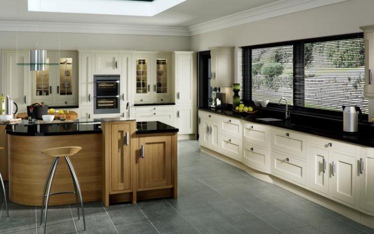In-Frame Kitchen Range  Iona Inframe Light Oak White Cotton
