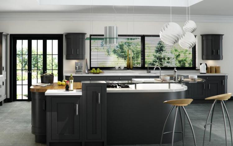 In-Frame Kitchen Range  Iona Oak Inframe Graphite