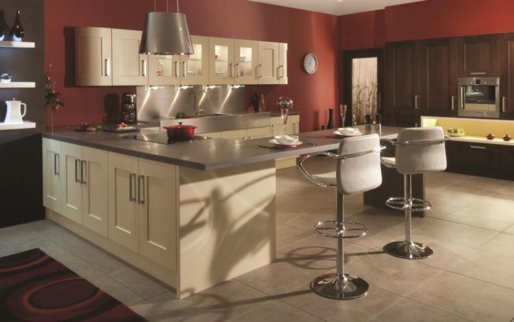 Painted Timber Kitchen Range  Clonmel Wenge Cream